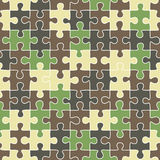Puzzle seamless pattern Royalty Free Stock Image
