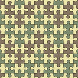 Puzzle seamless pattern Royalty Free Stock Photos
