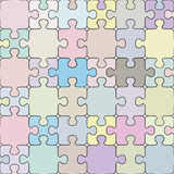 Puzzle seamless pattern. Royalty Free Stock Photography