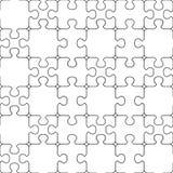Puzzle seamless pattern. stock illustration