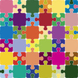 Puzzle seamless pattern. Royalty Free Stock Images