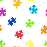 Puzzle seamless pattern background. Stock Photo