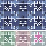 Puzzle seamless pattern / vector background Royalty Free Stock Image