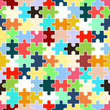 Puzzle (seamless texture) Royalty Free Stock Photo