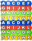 Puzzle search on white background Royalty Free Stock Photography