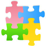 Puzzle set. Vector illustration of puzzle set Royalty Free Stock Photography
