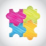 Puzzle set Stock Image