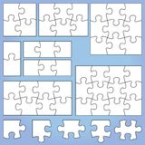 Puzzle set. 1  2 3  4  6  8   9   12 pieces Stock Photography