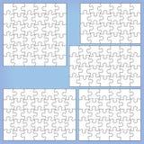 Puzzle set 24, 28, 30, 35, 36 pieces. Puzzle set 24 28 30, 35 36 pieces Outline vector jigsaw vector illustration