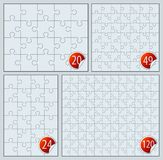 Puzzle set. 20, 24 49 120 pieces vector illustration Royalty Free Illustration