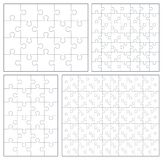 Puzzle set: 20, 24, 49, 120 pieces. Vector illustration with jigsaw pieces Vector Illustration