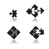 Puzzle set. Web icon illustration design vector Royalty Free Stock Image