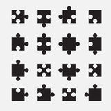 Puzzle set. Web icon illustration design vector Royalty Free Stock Images