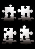 Puzzle shadow Royalty Free Stock Photography