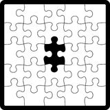 Puzzle shape royalty free illustration