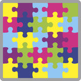 Puzzle shape Royalty Free Stock Photography