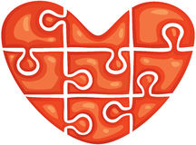 Puzzle in the shape of heart Stock Images