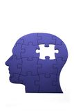 Puzzle in shape of human head Royalty Free Stock Photography