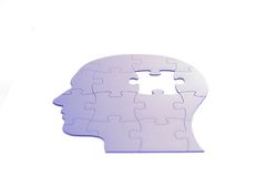 Puzzle in shape of human head Royalty Free Stock Photos