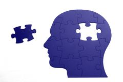 Puzzle in shape of human head Stock Image