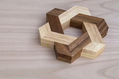 puzzle in the shape of a wooden star royalty free stock photography