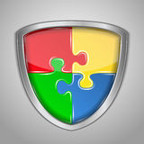 Puzzle Shield Royalty Free Stock Photo