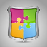 Puzzle Shield Royalty Free Stock Photography