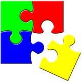 Puzzle simple Photos libres de droits