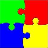 Puzzle simple Photo libre de droits