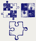 Puzzle sketch Royalty Free Stock Images