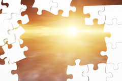 Puzzle and sky Royalty Free Stock Photo