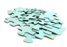 Puzzle slices  on a white background.  Royalty Free Stock Photography