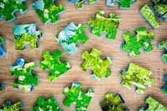 Puzzle smontato Fotografia Stock Libera da Diritti