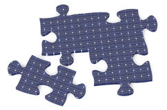 Puzzle from solar battery Royalty Free Stock Photos