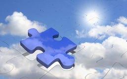 Puzzle - sole nel cielo blu Fotografie Stock Libere da Diritti