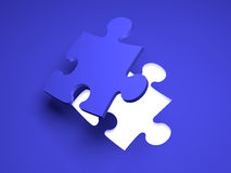 Puzzle Solution Stock Photography