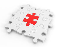 Puzzle solution concept. Stock Photography