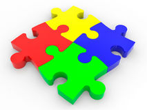 Puzzle solution concept. Royalty Free Stock Photography