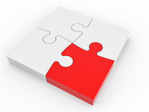 Puzzle solution concept. 3D illustration Royalty Free Stock Photo