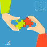 Puzzle solution concept Stock Image