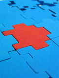 Puzzle - solution de rechange photo stock