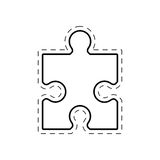 puzzle solution image outline Royalty Free Stock Image