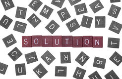 Puzzle solution Royalty Free Stock Photos