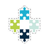 puzzle solution strategy image Royalty Free Stock Photo