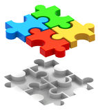 Puzzle Solved Stock Image