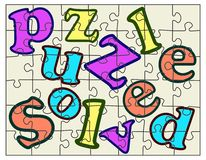 Puzzle solved Royalty Free Stock Image