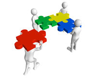 Puzzle solvers Royalty Free Stock Photo