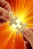 Puzzle solving Stock Photos
