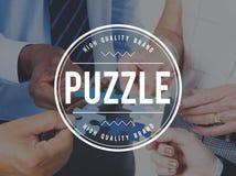 Puzzle Solving Confuse Connect Problem Solution Concept Stock Photo