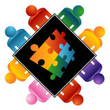 Puzzle Solving Team Stock Photography